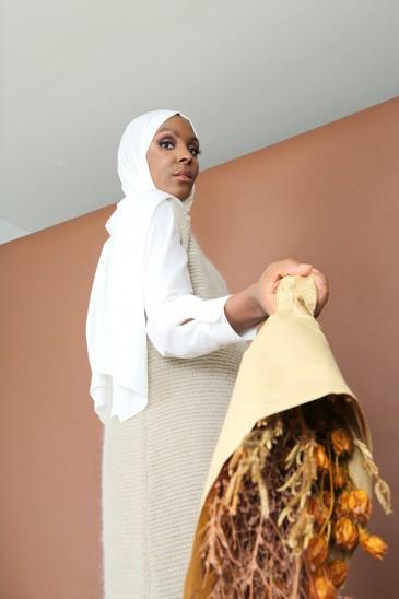 Gilet Jahida Beige sans manches pas cher & discount