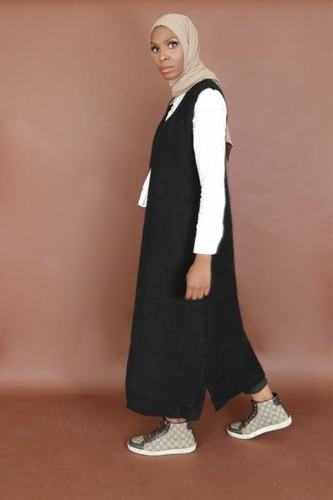 Gilet Sans manche Jahida Noir