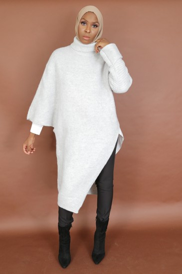 Pull Oumayma Gris pas cher & discount