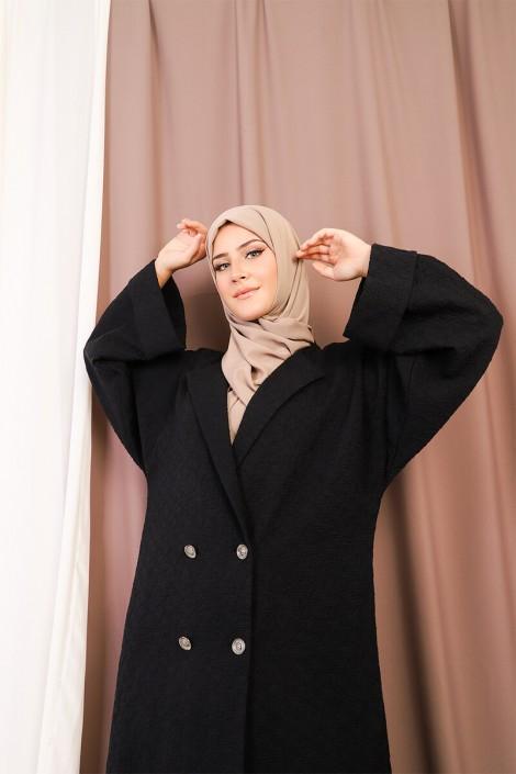 Abaya Coat Brocard