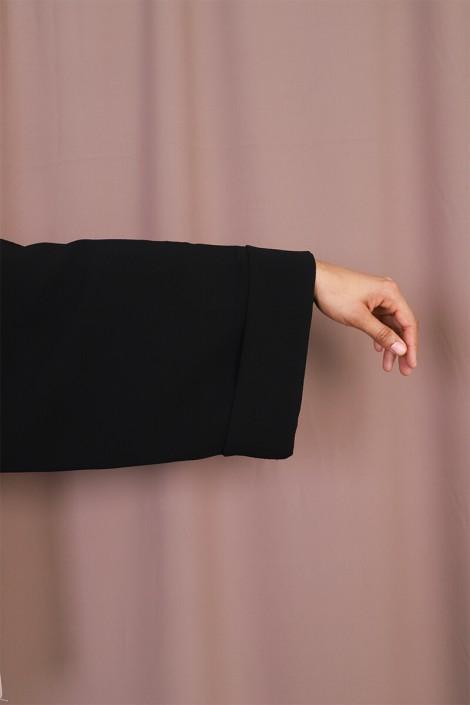Abaya Coat Twist Noir