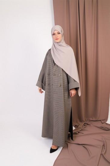 Abaya Coat Pied-de-poule pas cher & discount