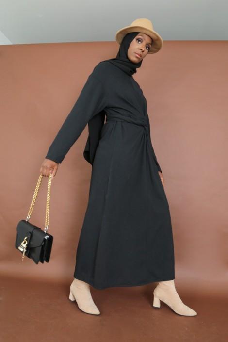Robe à nœud Nyna Noir