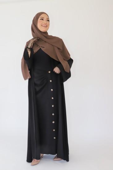Abaya Kimono Orlane Noir pas cher & discount