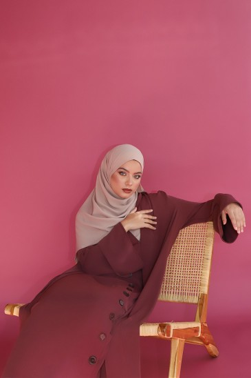 Abaya Mila Grenat pas cher & discount