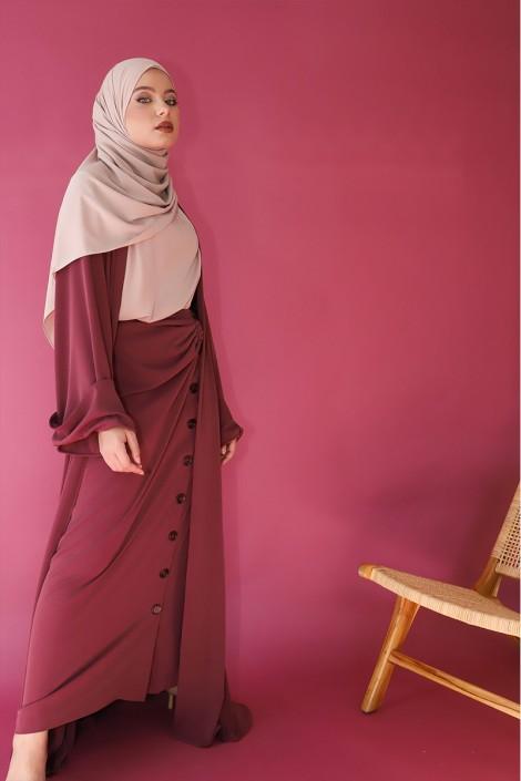 Abaya Mila Grenat