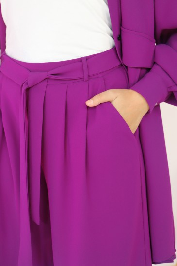 Pantalon Elah Purple pas cher & discount