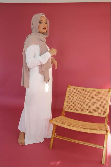 Robe Chemise Indila Imprimé Ecru