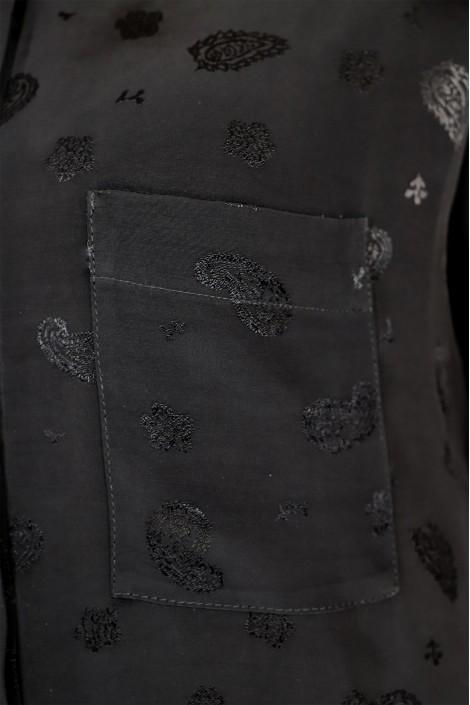 Robe Chemise Indila Imprimé Noir