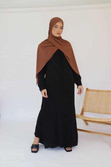 Robe Chemise Indila Imprimé Noir pas cher & discount
