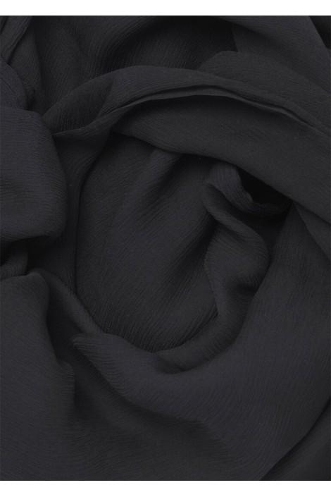 Hijab en Mousseline de Soie Noir