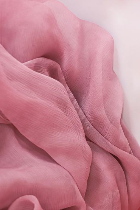 Hijab en Mousseline de Soie Rose dragée