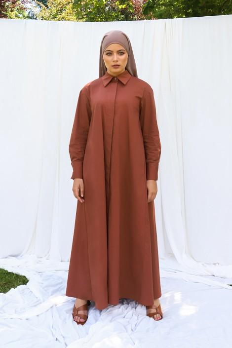 Robe chemise Mima Terracota