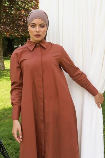 Robe chemise Mima Terracota pas cher & discount