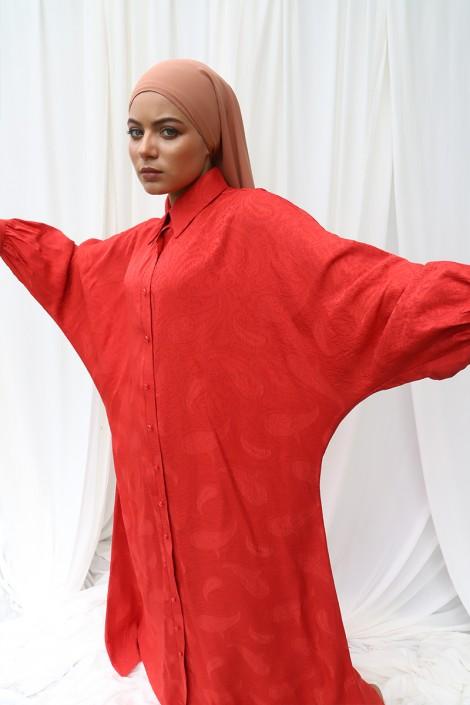 Robe Abaya Khady Rouge