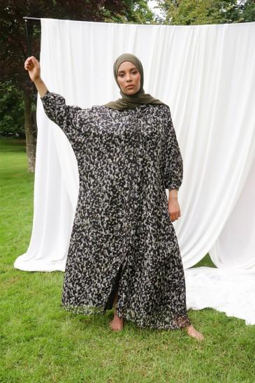Robe Abaya Khady Noir pas cher & discount