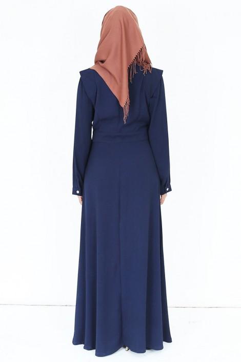 Robe Marina Bleu Marine