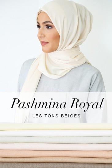 Pashmina royal - Tons Beige - pas cher & discount