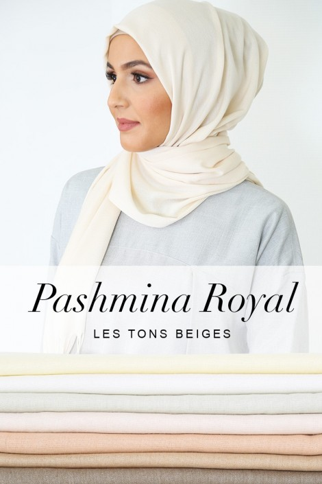 Pashmina royal - Tons Beige -