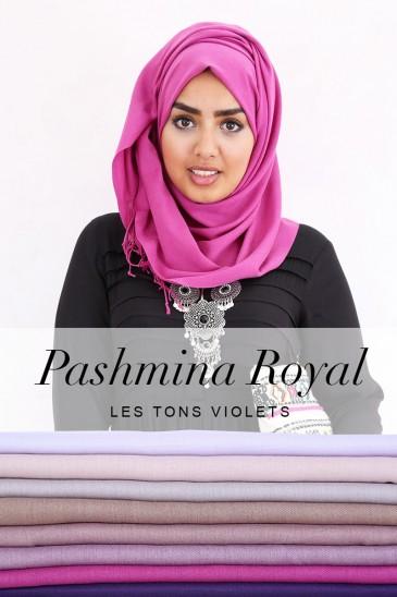 Pashmina royal - Tons Violet - pas cher & discount