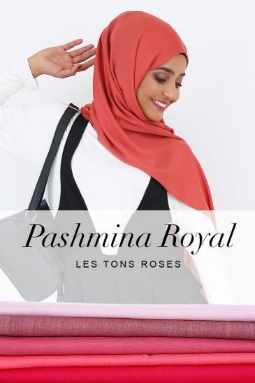 Pashmina royal - Tons Rose - pas cher & discount