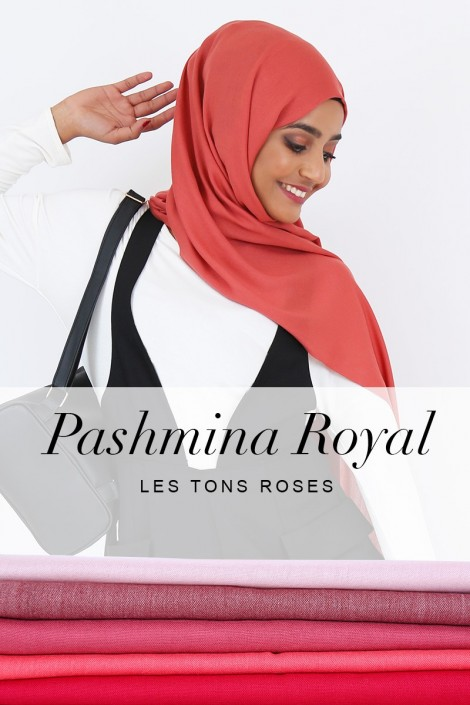 Pashmina royal - Tons Rose -