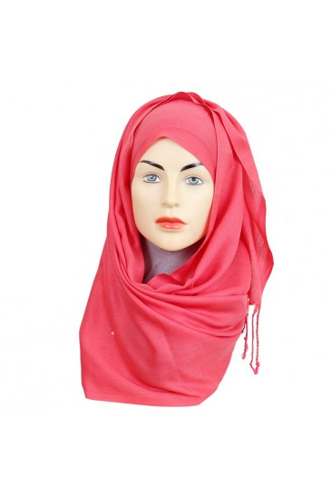 Pashmina royal - Tons Rose - pas cher & discount