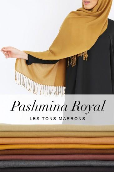 Pashmina royal - Tons Marron - pas cher & discount
