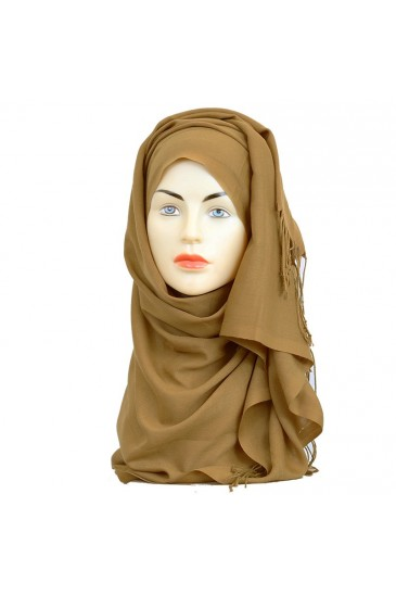 Pashmina royal - Tons Marron - pas cher & discount