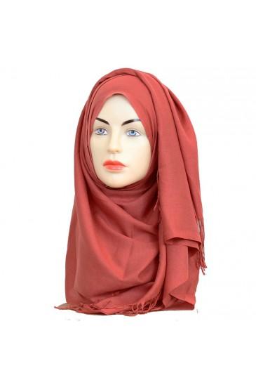 Pashmina royal - Tons Rouge Orange - pas cher & discount