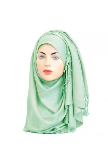 Pashmina les tons vert bleu pas cher & discount