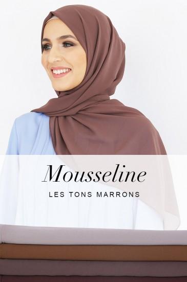 Hijab Armel - Les tons marron - pas cher & discount