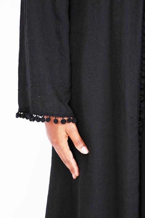 Robe longue noire hijab