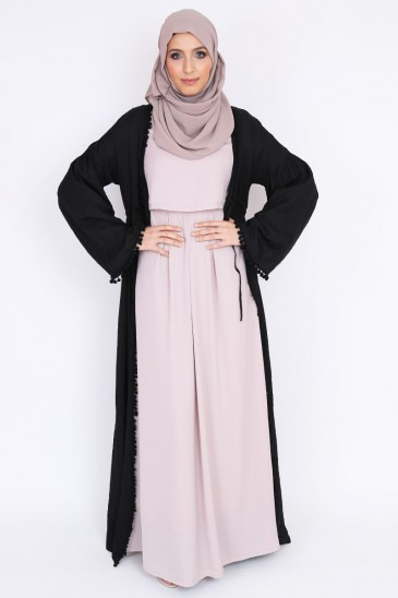 kimono abaya robe longue pour femmes musulmanes hijab noir pas cher pas cher & discount