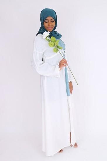 Kimono Tajiha blanc cassé pas cher & discount