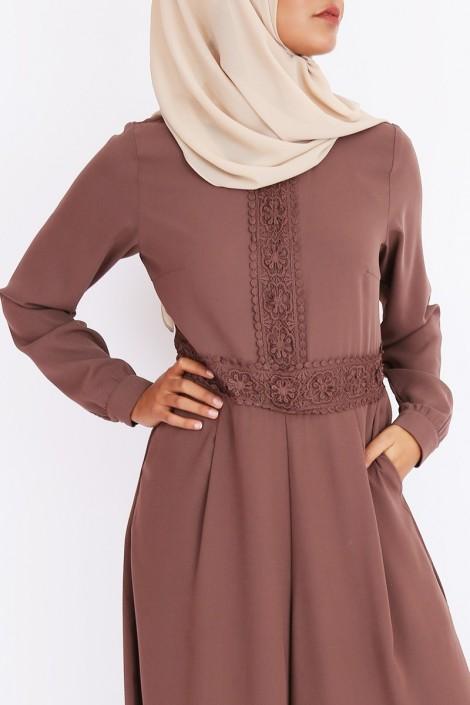 Combinaison abaya jupe culotte pour femme musulmane