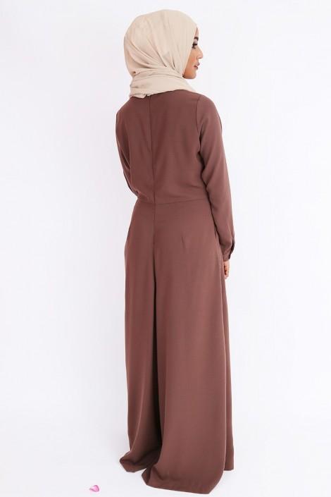 Combinaison abaya pantalon très large pour femmes musulmanes