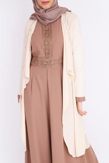 Veste Layla site musulman de vente de hijab en ligne abaya robe longue pas cher & discount