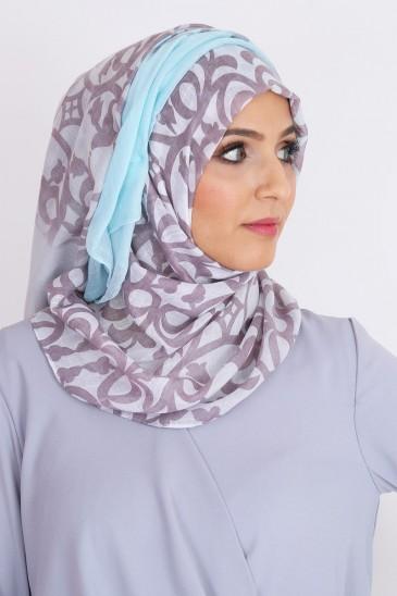 Hijab blanc clarisse robe oriental tenue classe pour femme musulmane jilbab pas cher & discount