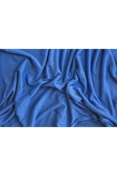 Snood Cagoule bleu électrique