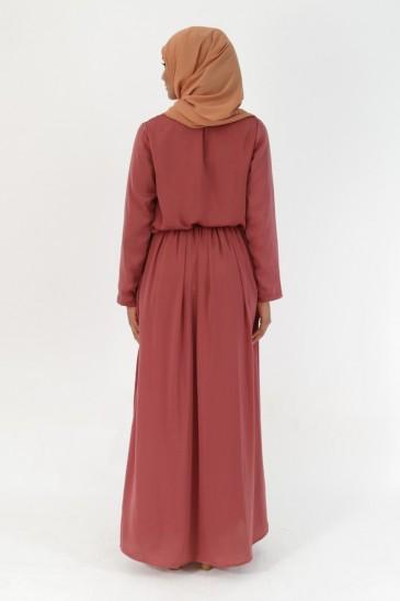 Robe Indira Terre de sienne pas cher & discount