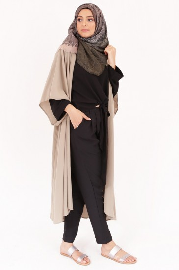 Kimono Denya kaki clair pas cher & discount