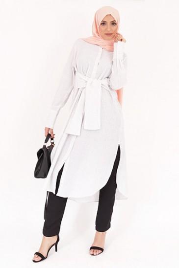 Tunique Sakura blanc pas cher & discount