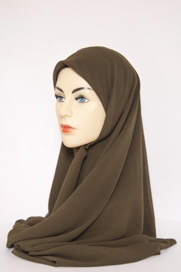 Hijeb Basic Carré Kaki pas cher & discount
