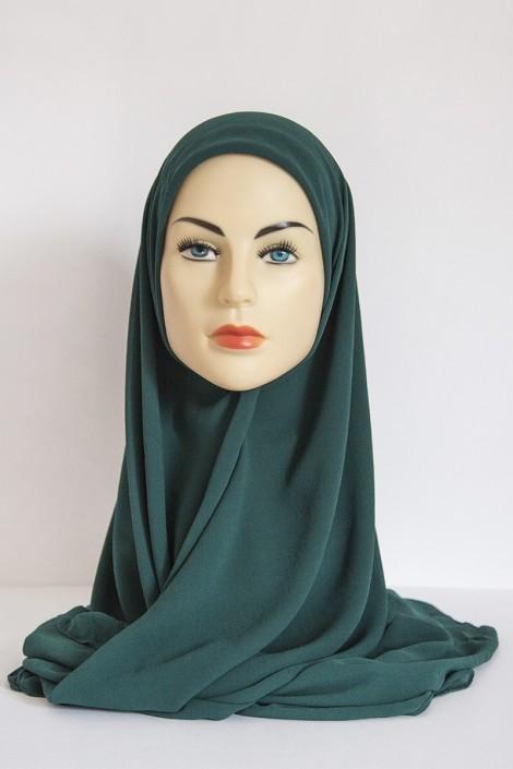 Hijeb Basic Carré Vert Sapin