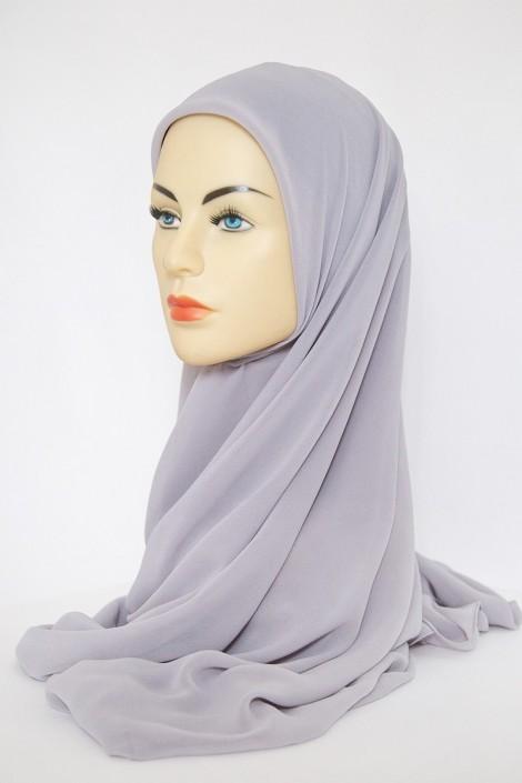 Hijeb Basic Carré Gris Perle