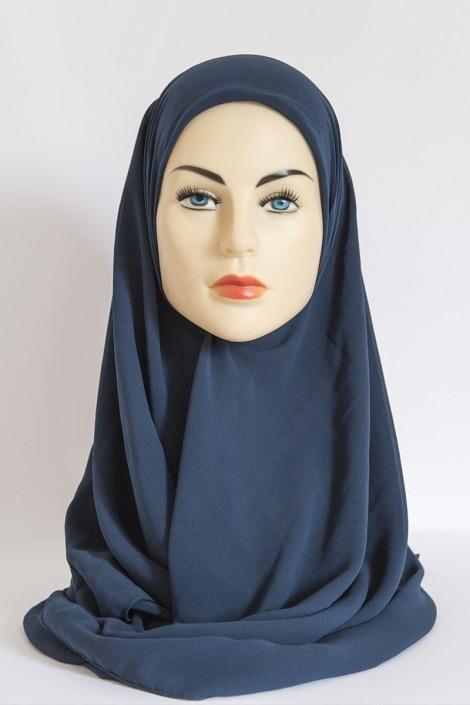 Hijeb Basic Carré Bleu Pétrole