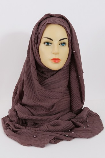 Hijeb SAFIYA perle Marron pas cher & discount