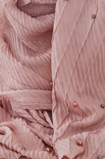 Hijeb SAFIYA perle Vieux rose pas cher & discount