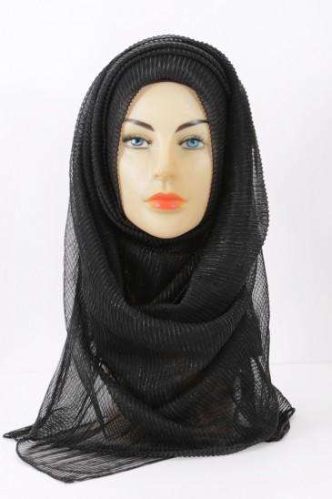 Hijab foulard noir tenue de soirée pour femme voilée pas cher & discount